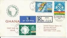 Ghana  1966  African Unity Charter  Registered Accra to New York  FDI FDC  Cover