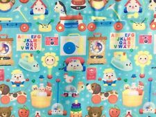 FQ RETRO CHILDRENS TOYS HUMPTY WOODEN HORSE STARS  POLYCOTTON FABRIC