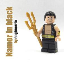 LEGO Custom - Namor - Marvel super heroes mini figure in Black aqua man