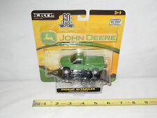 John Deere Ford F-350 Green Dually Pickup With Flatbed Trailer  1/64th Scale