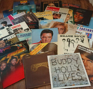 """Job Lot of 8x 12"""" LP Records. Rock/Pop/Jazz/Country/Soul 150+ Private Collection"""