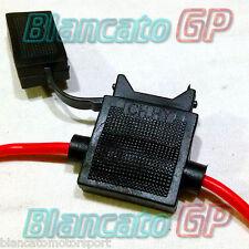 PORTAFUSIBILE IN LINEA 12V FUSE con cavo 20mm AWG18 ATC Holder  In-line max 20A