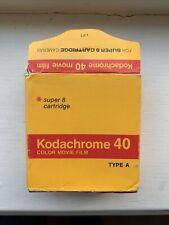 Kodachrome 40 Super 8 Film Cartridge Colour Movie Film (expired 1984)