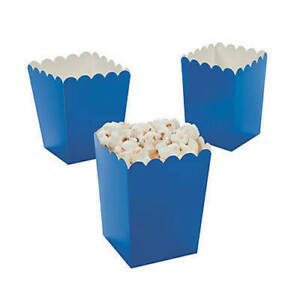 Pack of 12 - Blue Popcorn Boxes -  Party Box Favors
