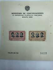 COLOMBIA Scott# C278A Unused OG NH 1955 National Stamp Expo S/S