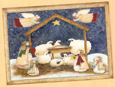 Sheep Lamb Snowman Shepherd Heaven's Star Creche Christmas Cards Box of 18 Last*