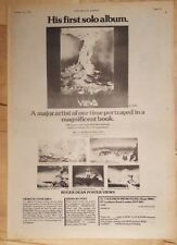 Roger Dean poster book  1975 press advert Full page 28 x 39 cm poster