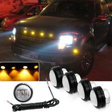 Amber Ford SVT Raptor Style LED Front Grille Lights Fog DRL Lamps Kit Fit Truck
