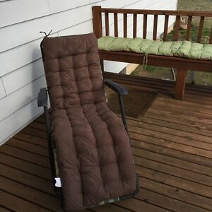 O'fit Micro Suede patio Chaise long bench chair pad INDOOR dining chair cushion