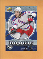 2007 08 UD MINI JERSEY RYAN CALLAHAN ROOKIE #132 NEW YORK RANGERS