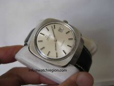 RARE OMEGA GENEVE AUTOMATIC QUICKSET DATE WATCH SQUARE CASE 36.5MM SERVICED