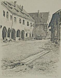 Ernst LIEBERMANN 1869 - 1960 - Dominikanerkloster Wollmarkt Augsburg