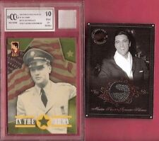 ELVIS PRESLEY EVENT WORN UNDERWEAR RELIC & GRADED 10 IN ARMY CARD & WORN KIMONO