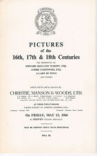 Christie's - Pictures of the 16th, 17th, & 18th Centuries - May 13, 1960