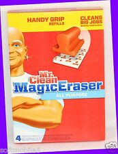 4 Pads - Mr. Clean Magic Eraser Household Cleaning ALL PURPOSE Refills