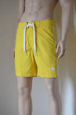 Abercrombie & Fitch Beaver prados Swim Board Shorts Franja Amarilla L RRP £ 58
