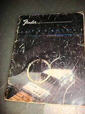 1972 Fender Electric Instruments / Amplifiers / Keyboard / Accessories Cataloge