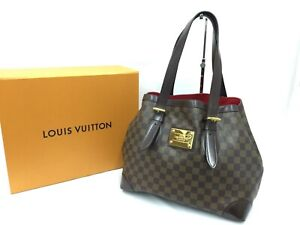 Auth Louis Vuitton Damier Ebene Hampstead MM Shoulder Tote Bag 1D280240n""