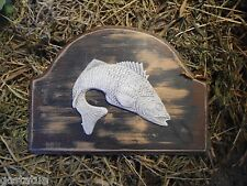 Bass fish plastic mold plaque rapid set cement all mould