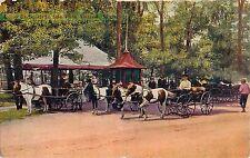 c1910 The Pony Carts at Belle Isle, Detroit, Michigan Postcard