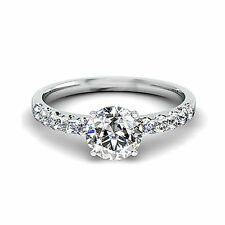 Solitaire with Accents VS2 Fine Diamond Rings