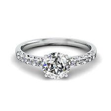 White Round VS2 Fine Diamond Rings