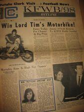 KFWB 98 Hitline Newspaper v.1 #19 10/1965 Standells Petula Clark Johnny Rivers