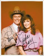 DALLAS - LINDA GRAY & LARRY HAGMAN AUTOGRAPH SIGNED PP PHOTO POSTER
