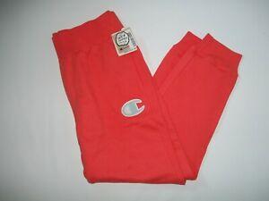 CHAMPION Reverse Weave Big C JOGGERS Orange Sweat Pants Womens Size XL NEW