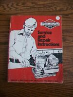 1984 Briggs and Stratton Service and Repair Instructions Manual #270962
