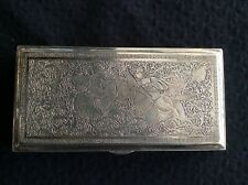 Middle Eastern Islamic  Silver Table Box 378 Grams
