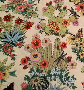 Alexander Henry Folklorico Hacienda Cactus 8862A Tea-Multi Cotton Fabric BTY