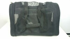 Top Paw Pet Carrier Dogs Cats Animals To 12Lbs 19L x 8W x 11H in. Black