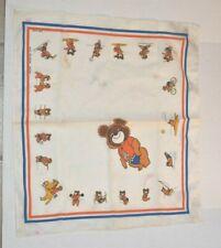 1980 Moscow Summer Olympics Vintage Bear Mascot Bandana Made in USA