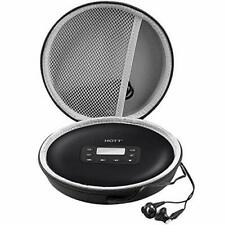Portable CD Player Compatible Case Rechargeable Personal Compact Black Perfect