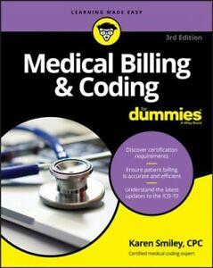 Medical Billing & Coding for Dummies, Paperback by Smiley, Karen, Like New Us...