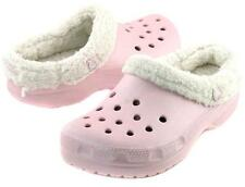 Cotton Candy Pink Mammoth Winter Backless Crocs Pink/Oatmeal Youth Size 2