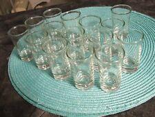 Lot 15 Shot Glasses ~ Glass Barware Shots