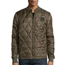 DC (DC Shoes) Olive ~ Army Green ~ Ripstop Quilted Bomber Jacket Men's Size LG