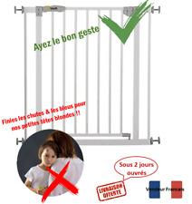 Barrière sécurité enfant bébé  forte protection métal ouvrable sans perçage neuf