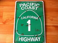 Pacific Coast Highway 1 Embossed Aluminum Metal sign - Made in USA!