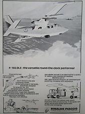 6/1976 PUB RINALDO PIAGGIO P.166-DL3 AIRCRAFT MARITIME PATROL SAR ORIGINAL AD