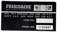 DB0414 1974 BUICK CENTURY LESABRE RIVIERA GS APOLLO ELECTRA FRIGIDAIRE A/C DECAL