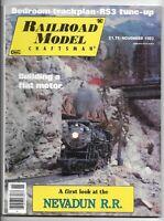 November 1982 issue of Railroad Model Craftsman Magazine