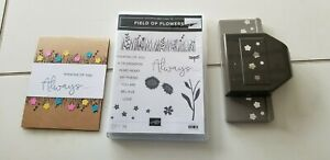 Stampin Up - STAMP BUNDLE - FIELD OF FLOWERS AND PUNCH PLUS CARD
