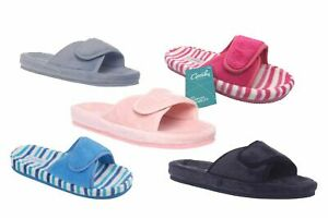 Ladies Slippers Grosby Summer Slipper Scuffs Adjustable S-XL