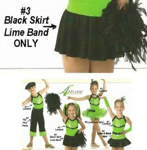Limelight Dance Costume TAP SKIRT ONLY Cheerleader New Clearance Child & Adult