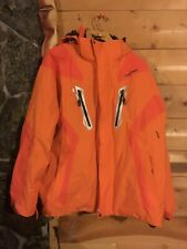 Goldwin orange jacket ski 2XL XXL skiing outdoors winter hood pockets snow coat