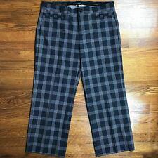 NEW Banana Republic Womens Pants Trousers Sz 14 UK /10 US Logan Plaid Crop