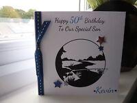 Handmade Personalised Male Fishing Birthday Card 18th 21st 30th 40th 50th 60th